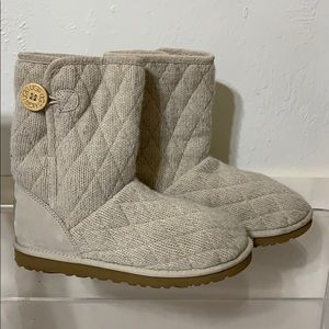 UGG mountain quilted sweater boots